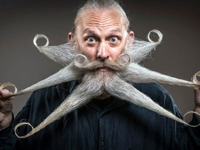 In Pictures: Wacky whiskers at British Beard and Moustache Championships