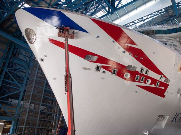 Largest cruise ship built for UK arrives in Southampton