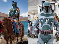This man travelled around Tibet dressed as Boba Fett and the photos are glorious