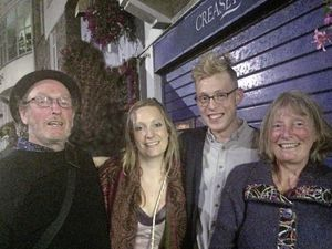Pip Orchard's family are calling for a review of sentencing guidelines. L-R Thomas Orchard, his daughter Polly, his son Pip and his wife Carol after a local jazz gig in St Peter Port. Pip is a keen jazz musician. (29581132)