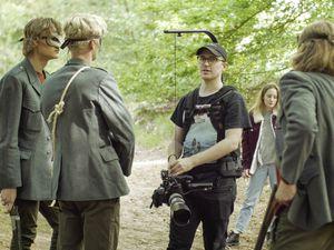 Guernsey Filmworks - Lars Janssen (centre) on the set of the horror short, Blue Blood. (29717550)