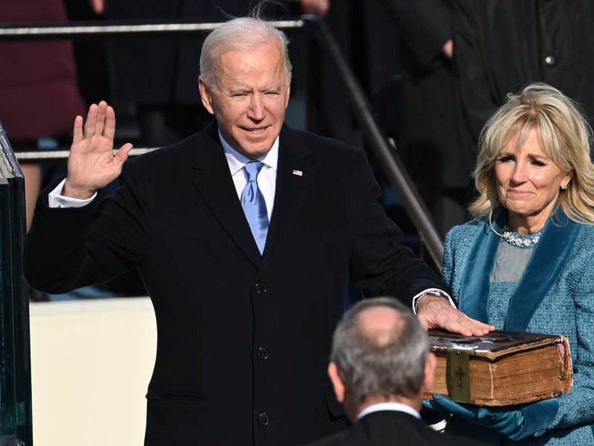 Joe Biden sworn in as he replaces Donald Trump as US president