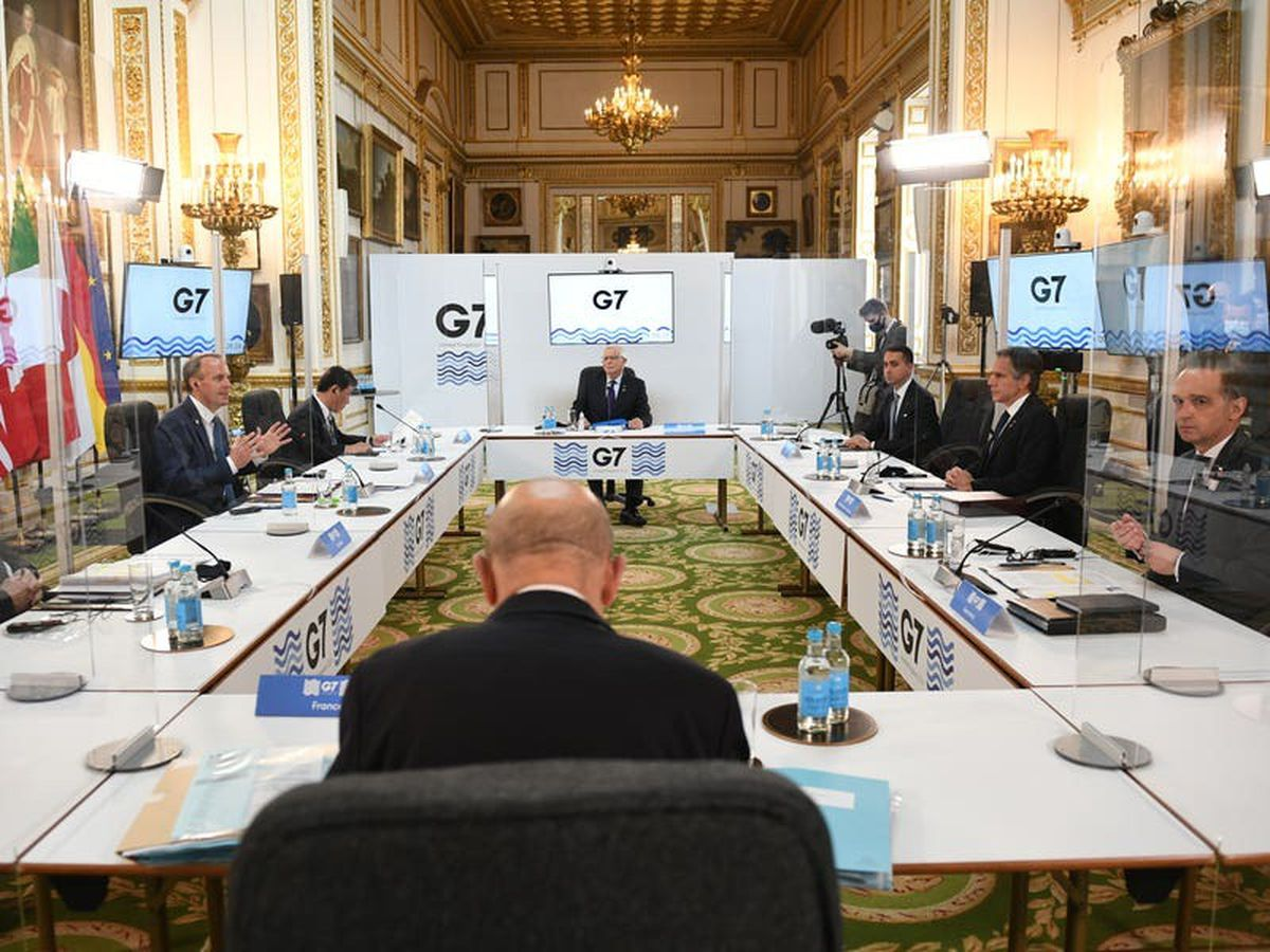 G7 foreign ministers meet amid strict coronavirus controls