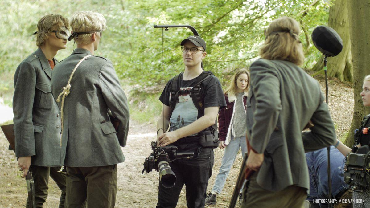 RÊVASSER FILMS - Lars Janssen and his wife Charlotte Dawn Potter - are launching Guernsey Filmworks.  Lars Janssen (centre) on the set of the horror short, Blue Blood. (28831569)