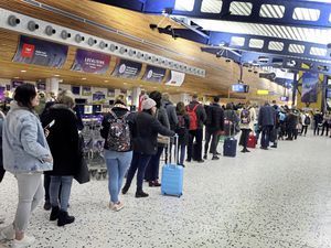 There have been long queues while one security lane has been closed at the airport. It is open again, but passengers are still being urged to check in early. (Picture by Steve Sarre, 23203684)