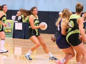 Pic by Adrian Miller 23-09-18.Beau Sejour Centre.Netball Guernsey Panthers v Sussex NRG Pumas..Charlotte Hill (25672240)