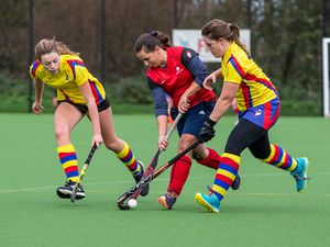 Guernsey Hockey - Colombians Puffins v Amazons, Ladies Division at Footes Lane. Becky Hubbard.Picture by Martin Gray, www.guernseysportphotography.com, 21-11-20. (29236393)