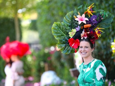 Weird and wonderful hats turn heads on Ladies' Day at Royal Ascot