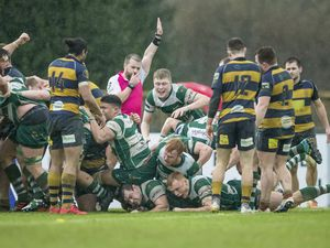 'Something beautiful for an old rugby tragic': Tom Ceillam touches down for Raiders' bonus-point try against Sevenoaks after a virtual full-team driving maul. (Picture by Martin Gray, 27188358)