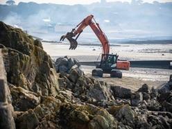 Emergency work next week on sea wall