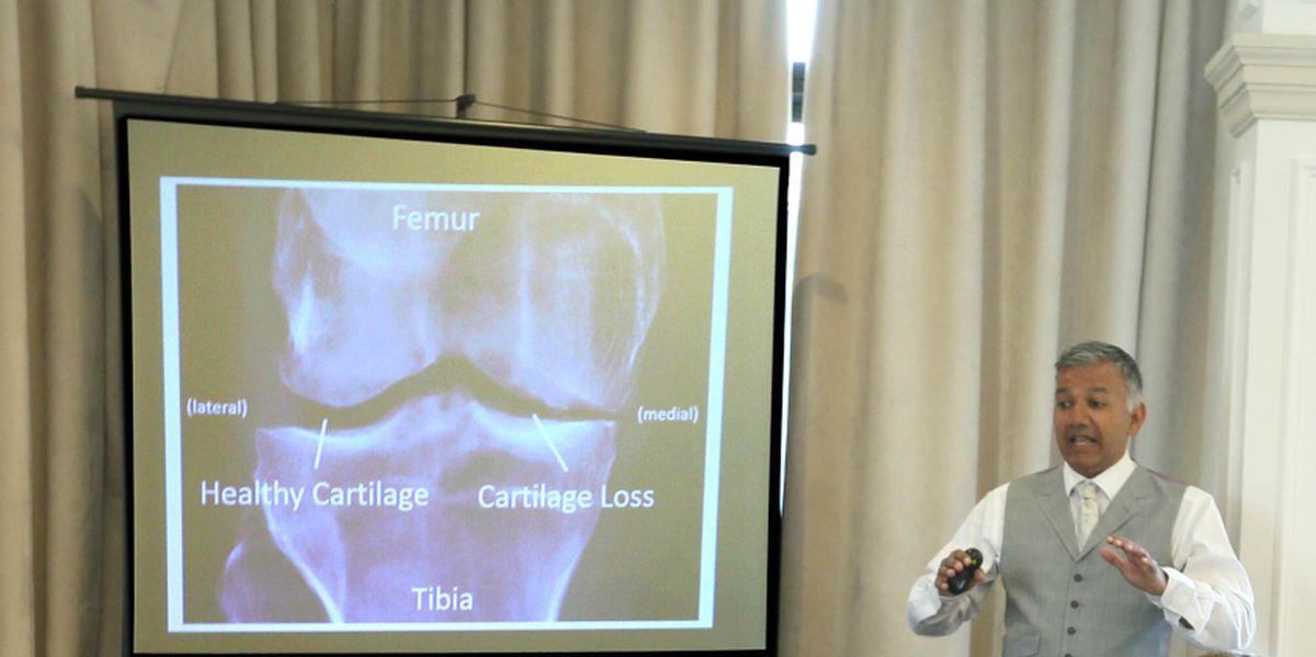 Dr Ranjan Vhadra at a presentation in 2016. (29995746)