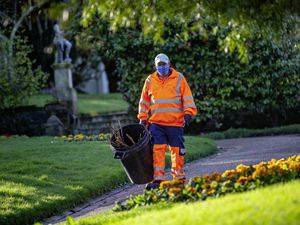 Picture By Peter Frankland. 22-02-21 Peter De Garis is one of States Works' land management operatives. He is back to work in Candie Gardens today.. (29267714)