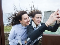 Locals brave Ophelia at Ireland's most northerly point