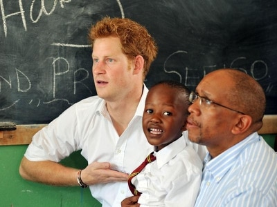 Harry travels to Lesotho to open community hall