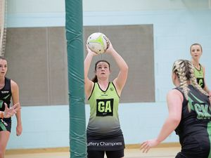 Pic by Adrian Miller 17-02-19            St Sampson's High Netball - Panthers v CD Phoenix 2 (23908278)