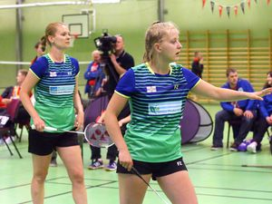 Elena Johnson, left, and Chloe Le Tissier will join forces once again in the women's doubles having won a bronze medal together in Gotland. (Picture by Adrian Miller, 24668809)
