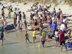 Alderney Week's daft raft race. ( Picture supplied by Alderney Week organisers)