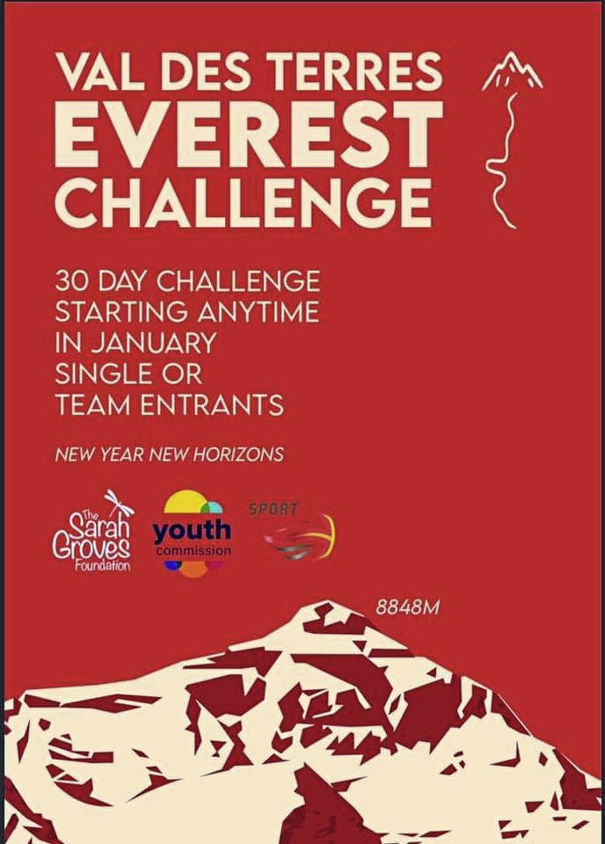 The Val des Terres Everest Challenge starts today, New Year's Day.