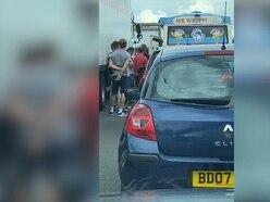 Ice cream van serves drivers stuck in M25 traffic