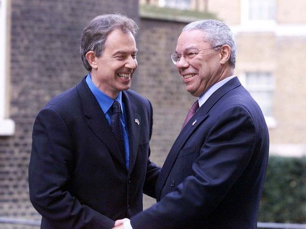 Tony Blair pays tribute to 'towering figure' Colin Powell, his Iraq War ally