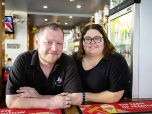 Picture By Peter Frankland. 16-08-21 Peter Emans and Vanessa Pilot are the landlord and landlady of The London House Pub. Pride - customer service nomination.. (29880133)