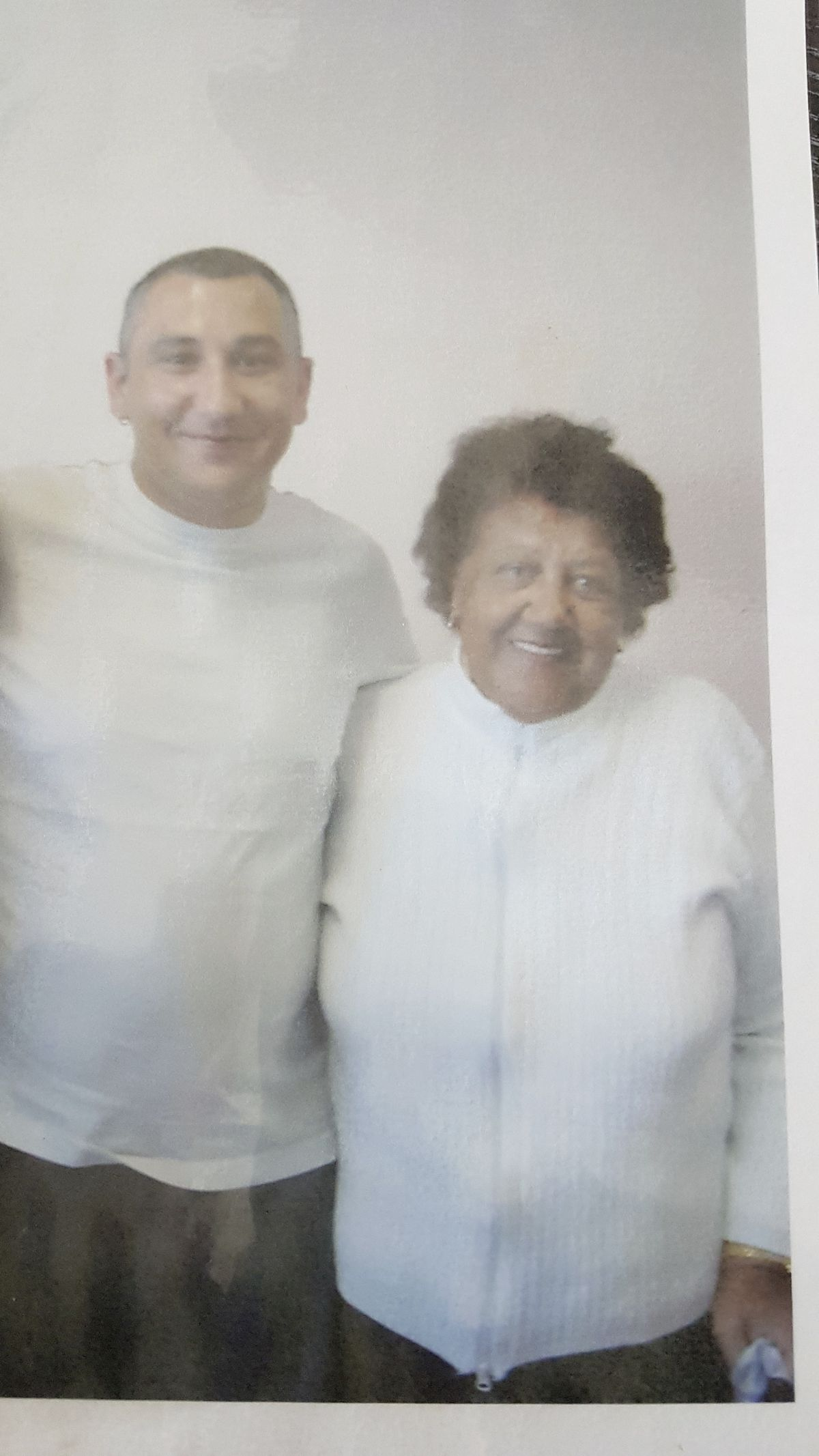 Adam Pagett had this photo with his mum taken by a prison officer only weeks before she died.