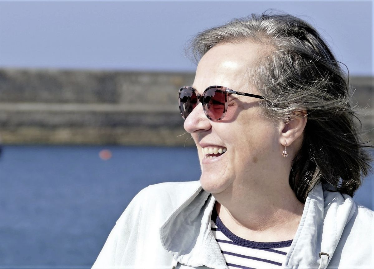 The new chief executive of the States of Alderney Kath Jones arrived in the island by charter boat. Picture by David Nash. (29365157)