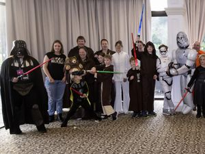 Pic by Adrian Miller 07-11-20 St Pierre Park Hotel Star Wars tea party for Autism Guernsey. (28887209)