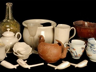 Artefacts from '18th century Starbucks' found in Cambridge University cellar