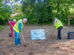 Volunteers join forces to clear Millennium Walk field