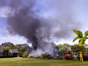 Picture By Sophie Rabey.  01-06-21.  Structure fire in Greenhouses on Plichons Lane, St Sampsons.. (29611309)