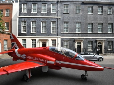 In Pictures: Red Arrows descend on Downing Street to mark RAF centenary