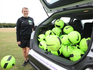 A day in the life of Joelle Pengelley, GFA women's and girl's football development officer (Pic by Adrian Miller 19-07-19 25308792)