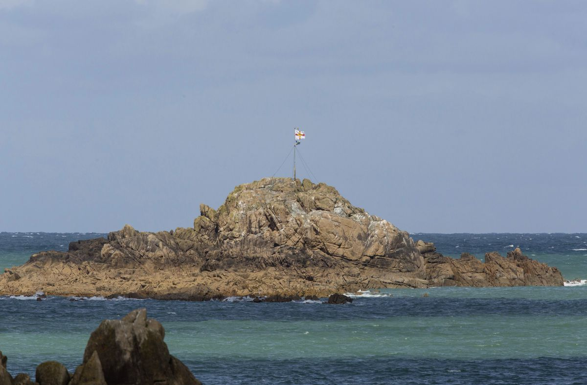The 2019 flag flying on Grosse Rocque. (29513744)
