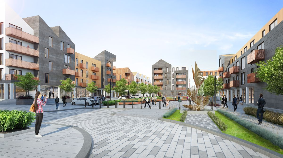 Back in 2016 this was the artist's impression of new plans for the development of Leale's Yard and areas of the Bridge. Development has since stalled.