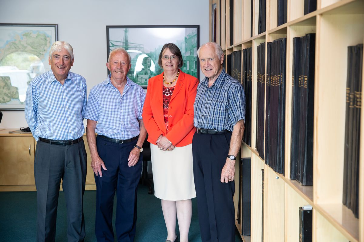 The Electoral Support Group, left to right, Sir Geoffrey Rowland, Jurat Alan Bisson, Diane Ward and John Langlois. (Picture by Peter Frankland, 28717603)