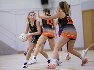 Picture By Peter Frankland. 24-09-19 Netball - Titans A v Blaze B.. (25883702)