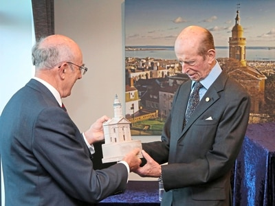 Duke of Kent on visit to St James in 200th year