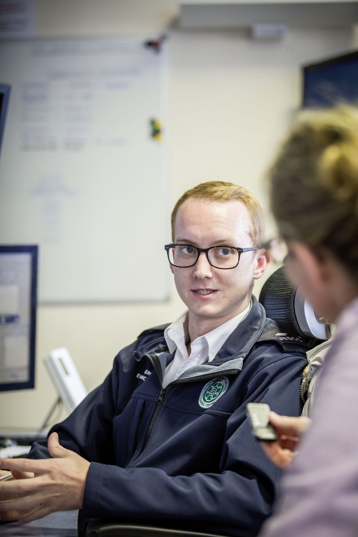 Picture by Sophie Rabey.  13-10-20..A day in the life of JESCC at the Police Station.  Joint Emergency Services Control Centre..Shane Harvey. (28810376)