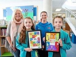 Olivia, 10, beats her twin in Youth Games poster contest