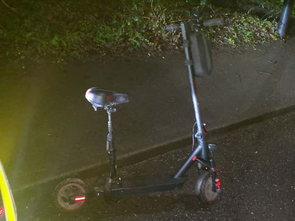 Police stop e-scooter rider on M1 in 'pitch black'