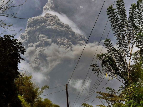Ash pours down on Caribbean island after volcanic explosion
