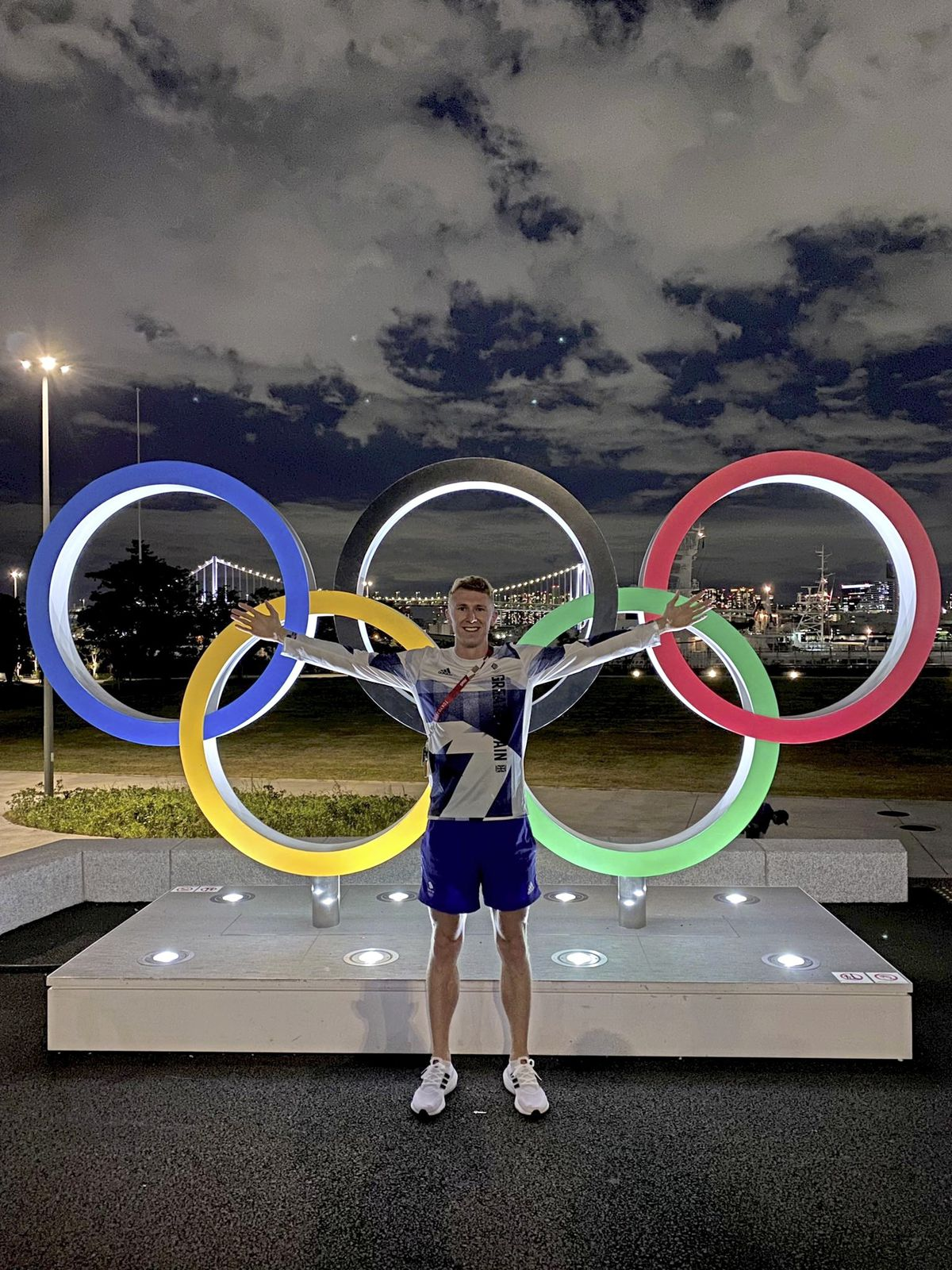 Cameron Chalmers at the Olympic Village in Tokyo. (Picture @CamChalmers400, 29808384)