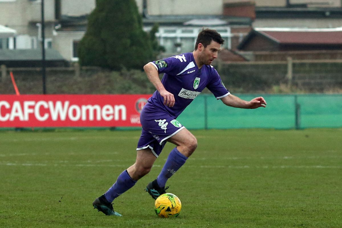 Ross Allen playing against VCD Athletic. (Picture by ESA Photos)