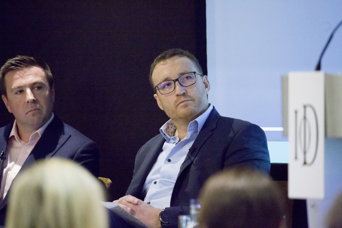 Jonathan Creasey at the IoD midterm panel debate. (Picture by Adrian Miller, 29520036)