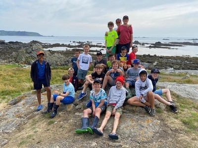 Elizabeth College Year 6 pupils sign off where they started – on Lihou