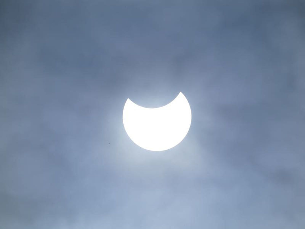 Partial solar eclipse begins amid cloudy skies across parts of UK