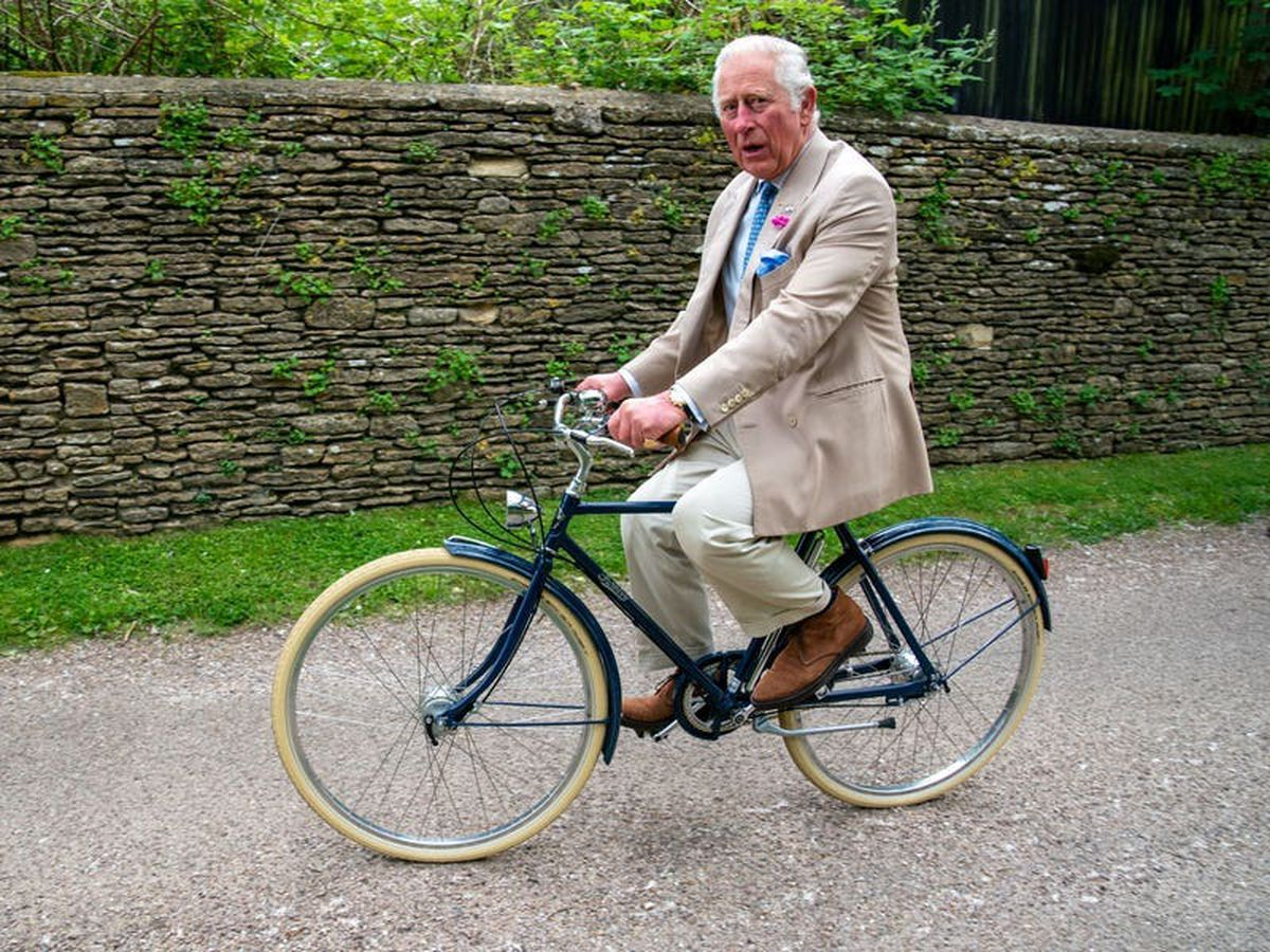 Charles gets on his bike to launch charity cycle ride