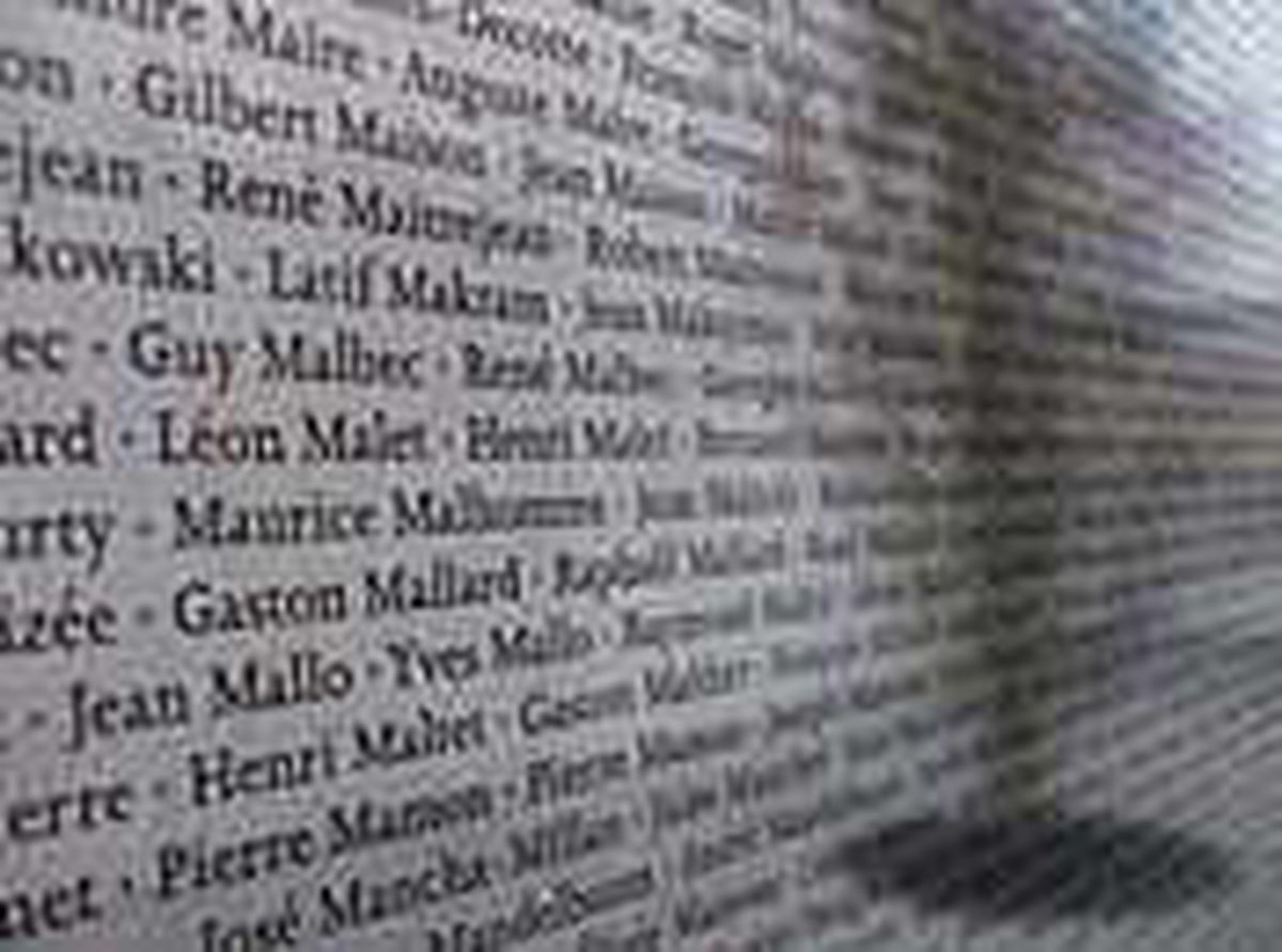 A wall outside the exhibition bears the names of those who passed through the camp. (0546061)