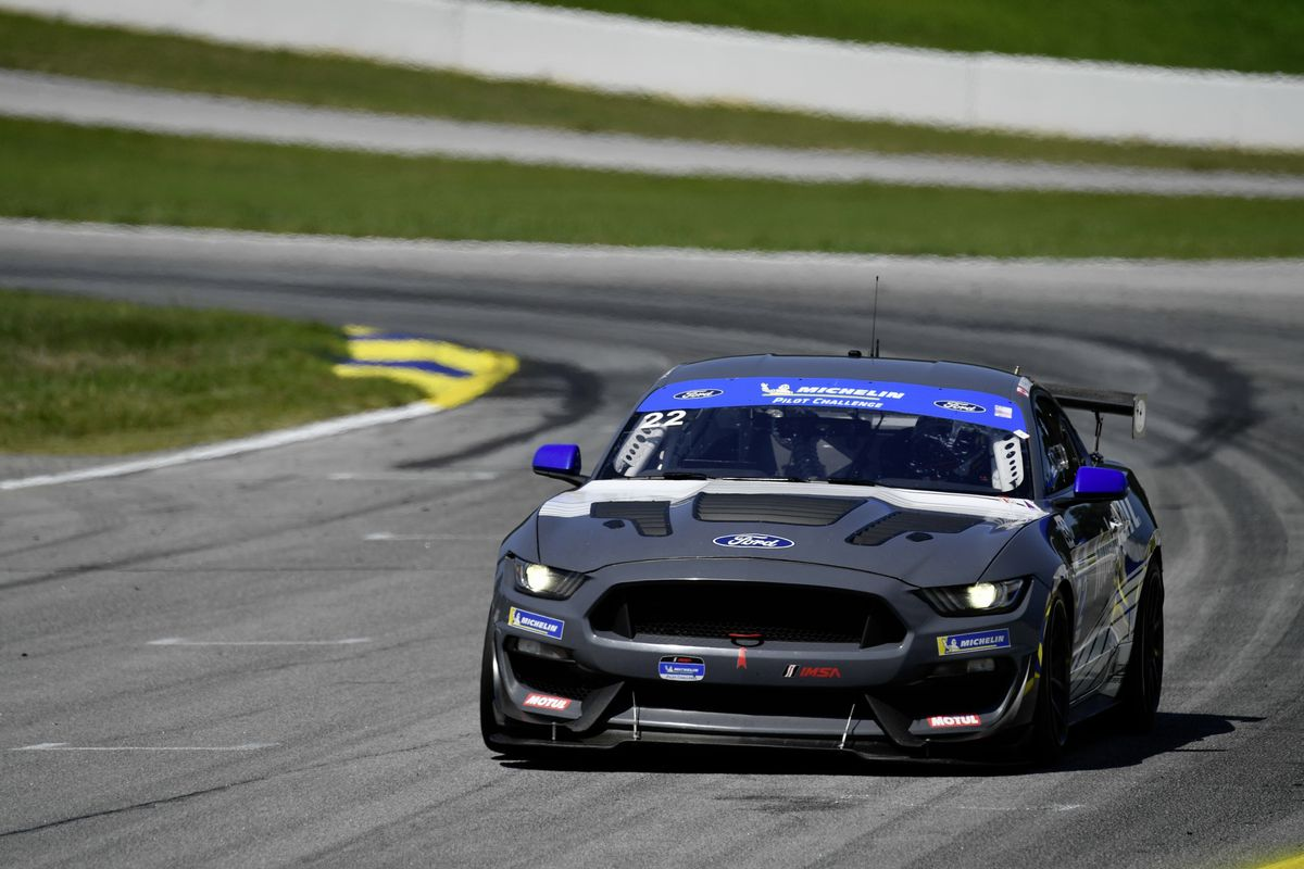 The No. 22 Multimatic Motorsports Inc. Ford Mustang GT4 of Seb Priaulx and Scott Maxwell finished second at Road Atlanta. (Picture from IMSA, 28667305)